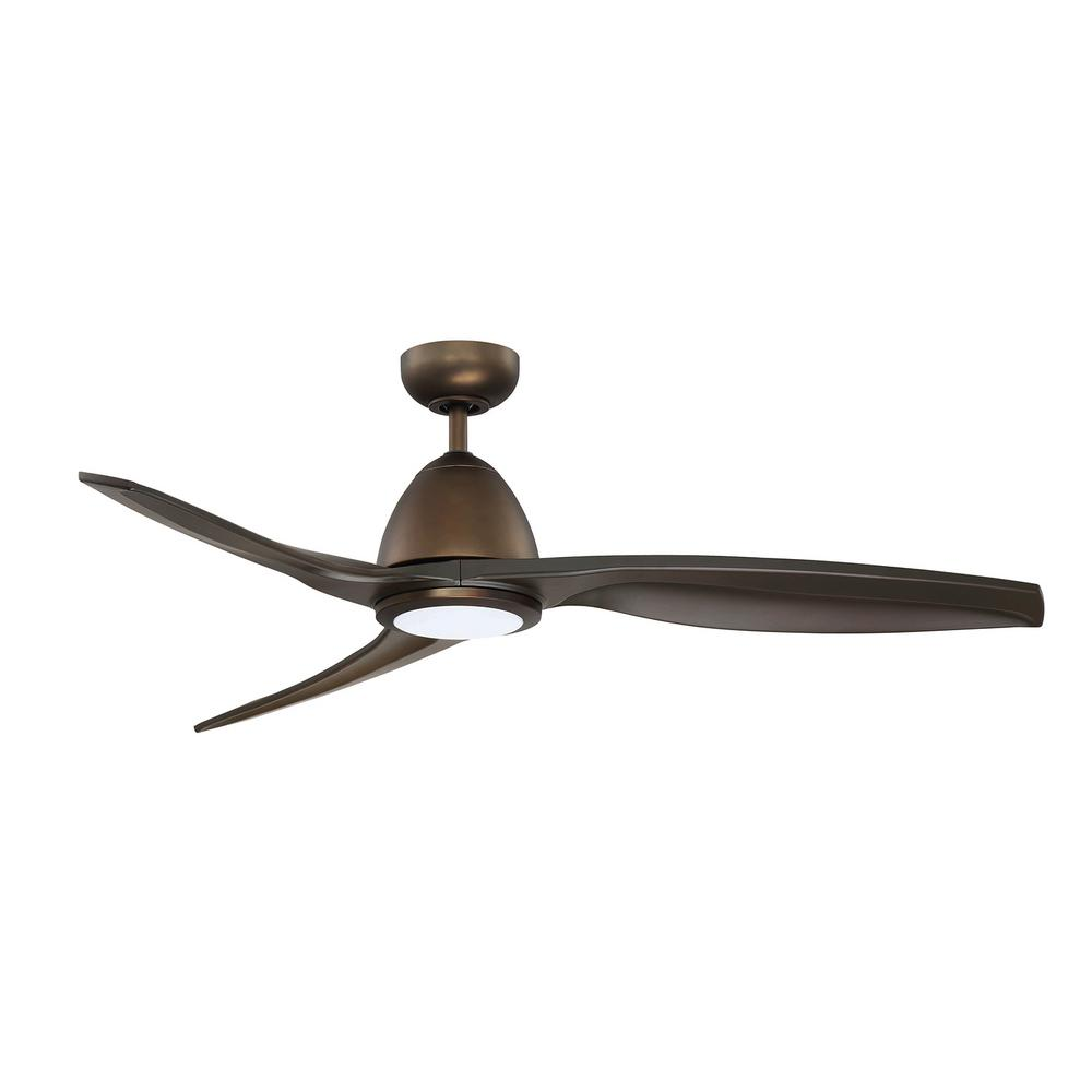 Hunter Summerlin 48 Noble Bronze Ceiling Fan With Light: Hunter Oakfor 48 In. LED Indoor Noble Bronze Ceiling Fan