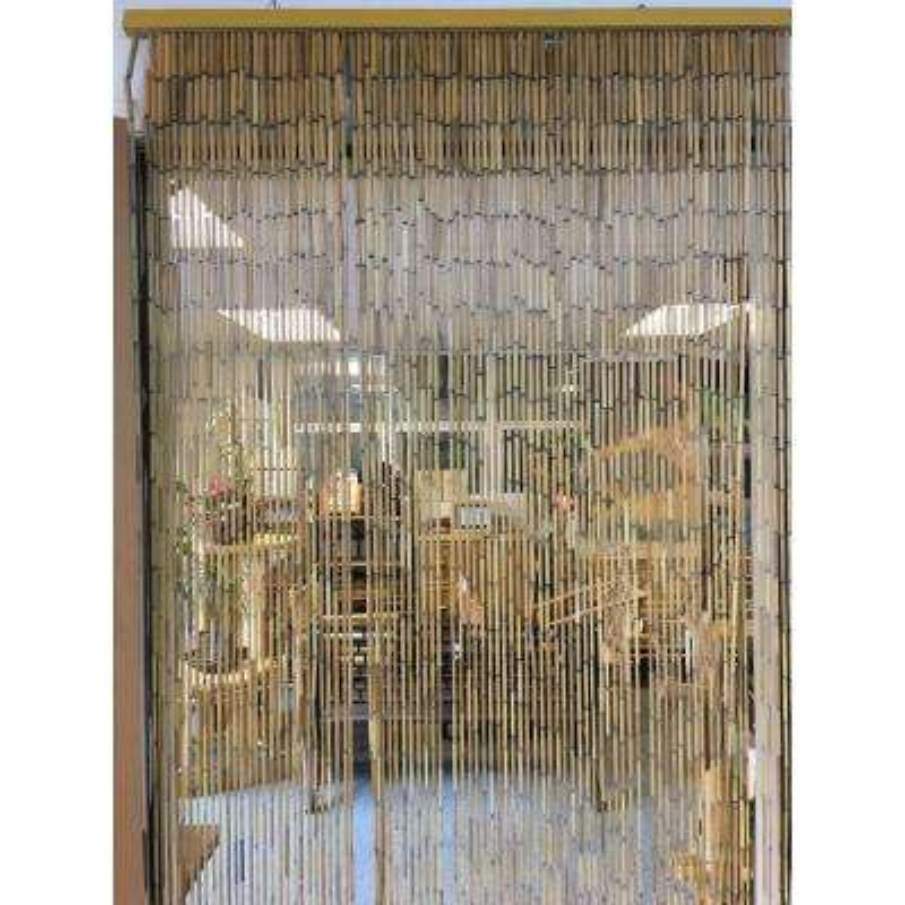 Printed Beaded Bamboo Shoot Curtain