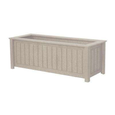 North Hampton 34 in. x 12 in. Driftwood Recycled Plastic Commercial Grade Planter Box