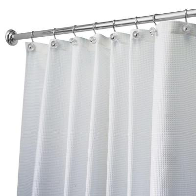 Carlton Long Shower Curtain in White