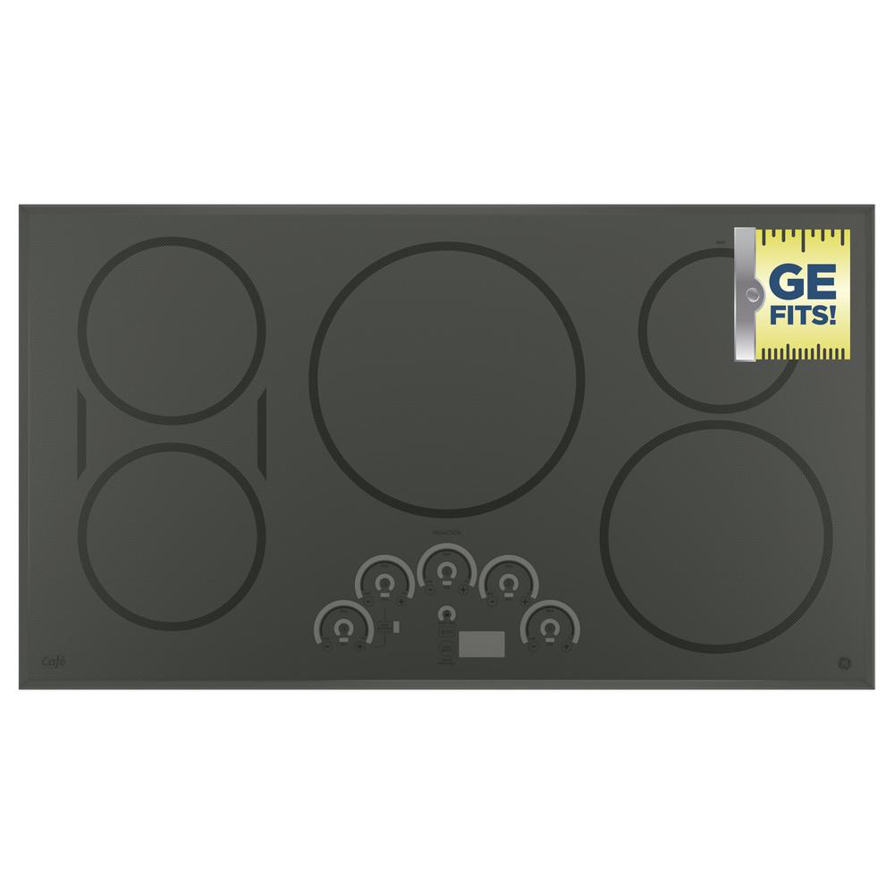 Cafe 36 in. Induction Cooktop in Stainless Steel with 5 Elements