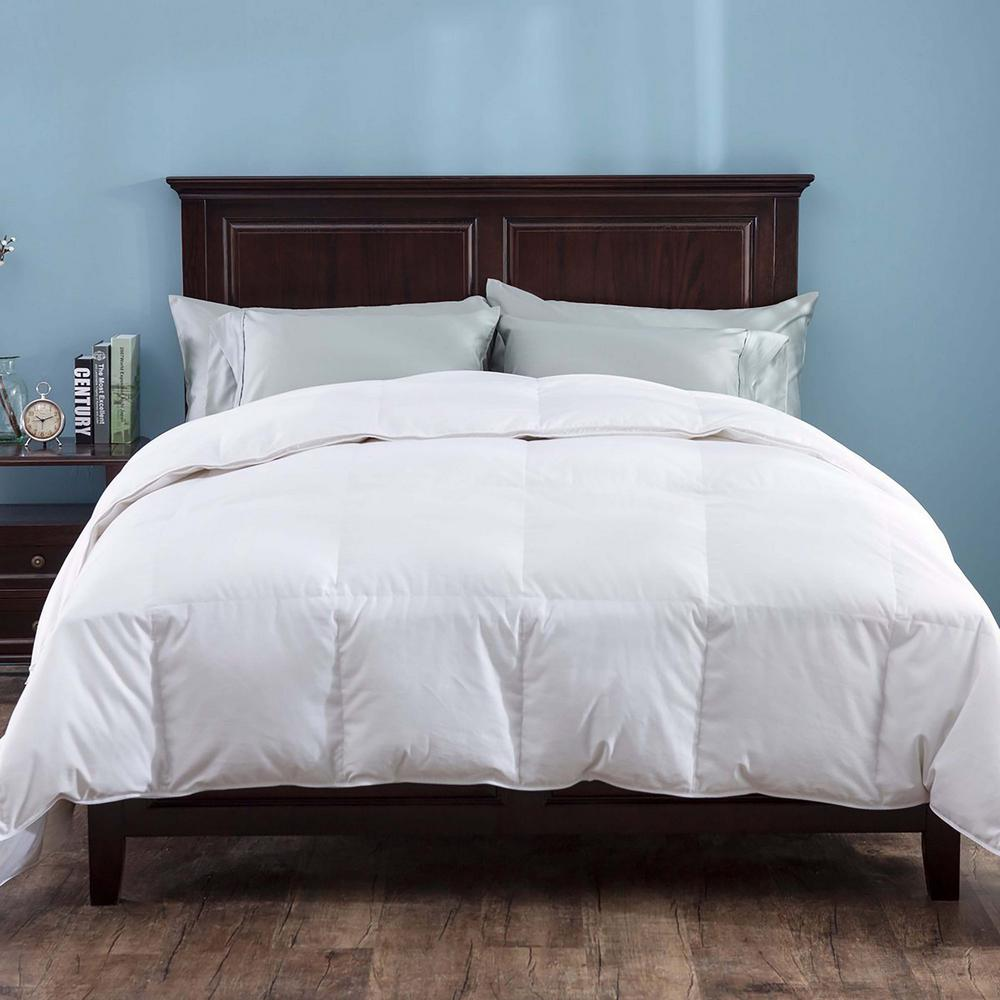 Heavy Fill White Goose Down Comforter 700 Thread Count Cotton Sateen King In