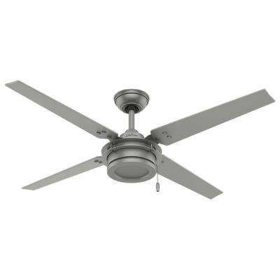 Gunnar 54 in. Indoor/Outdoor Matte Silver Ceiling Fan