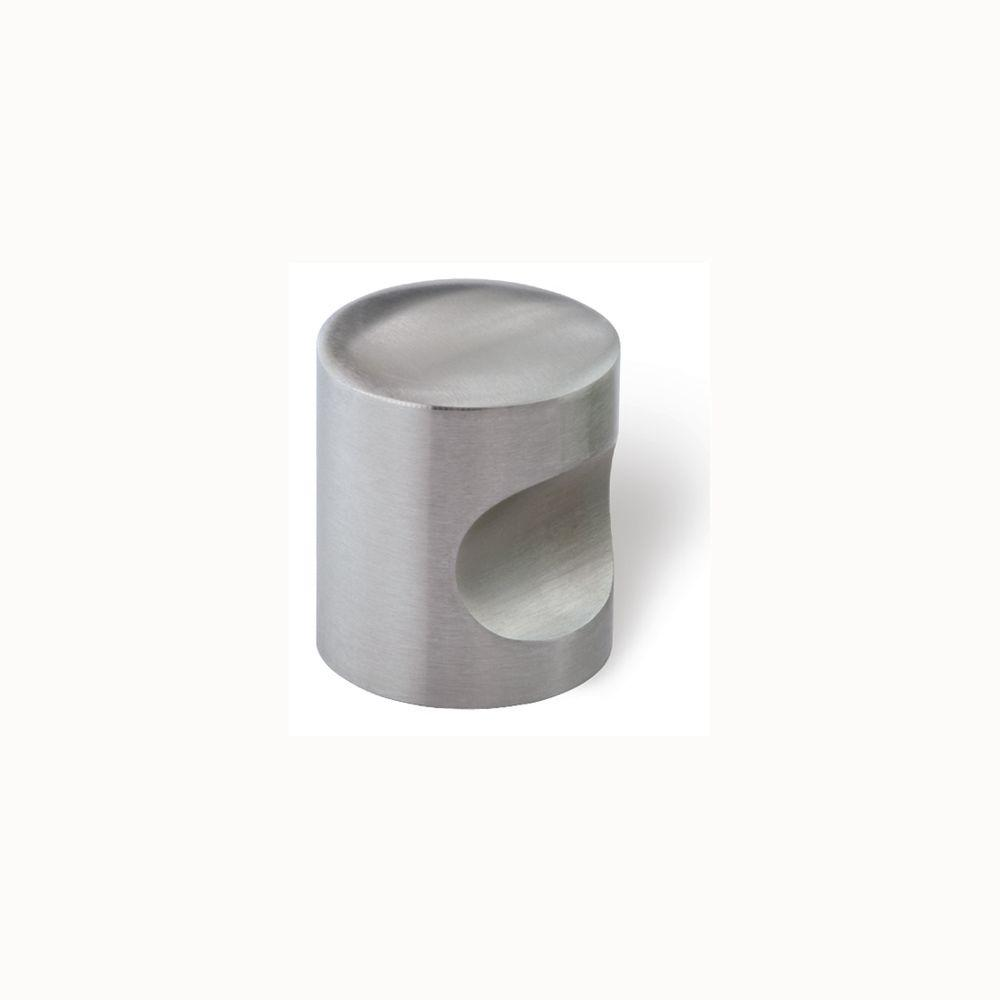 Siro Designs 1 in. Fine Brushed Stainless Steel Cabinet Knob