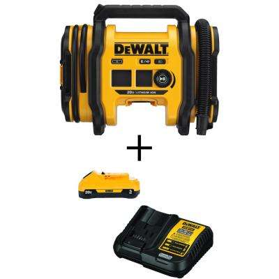 20-Volt MAX Inflator with Bonus Li-Ion Battery Pack 3.0 Ah and Charger