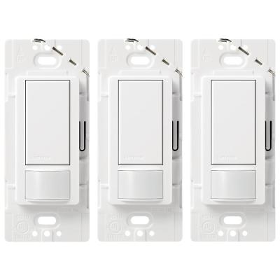 Maestro 5 Amp Single-Pole or Multi-Location Motion Sensor Switch, White (3-Pack)