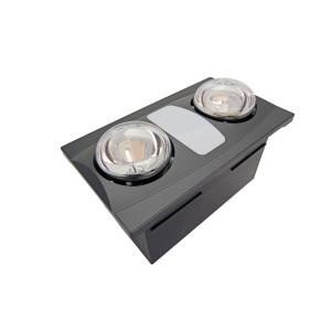 2-Bulb 80 CFM Ceiling Bathroom Exhaust Fan with Light and ...