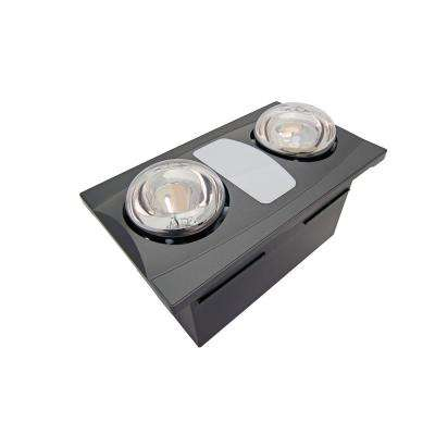 2 Bulb 80 Cfm Ceiling Bathroom Exhaust Fan With Light And 270w Infrared Heat