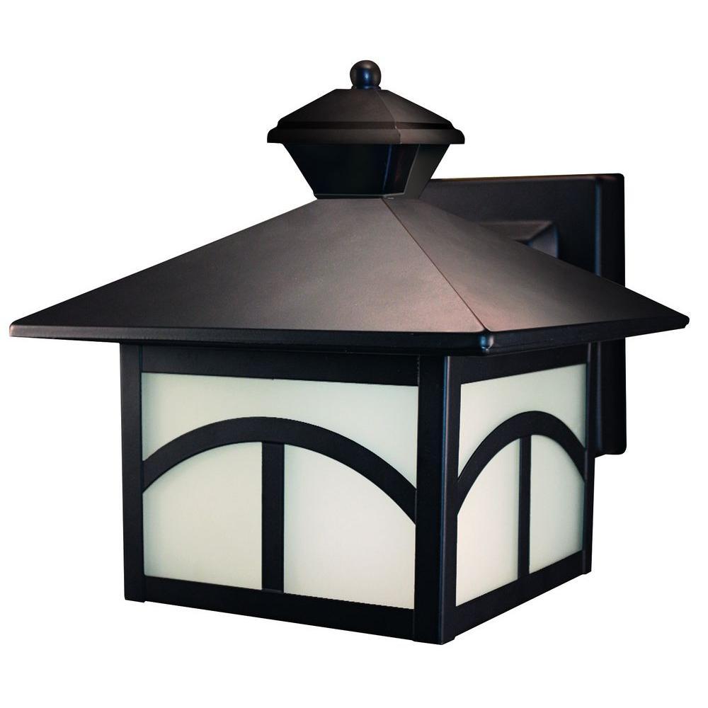 Heath Zenith 180 Degree Oil-Rubbed Bronze Motion Activated Decorative Lantern