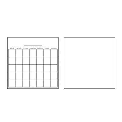 White Dry Erase Wall Decals Combo (Set of 2)