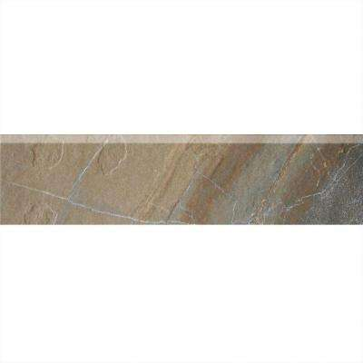 Ayers Rock Rustic Remnant 3 in. x 13 in. Glazed Porcelain Bullnose Floor and Wall Tile