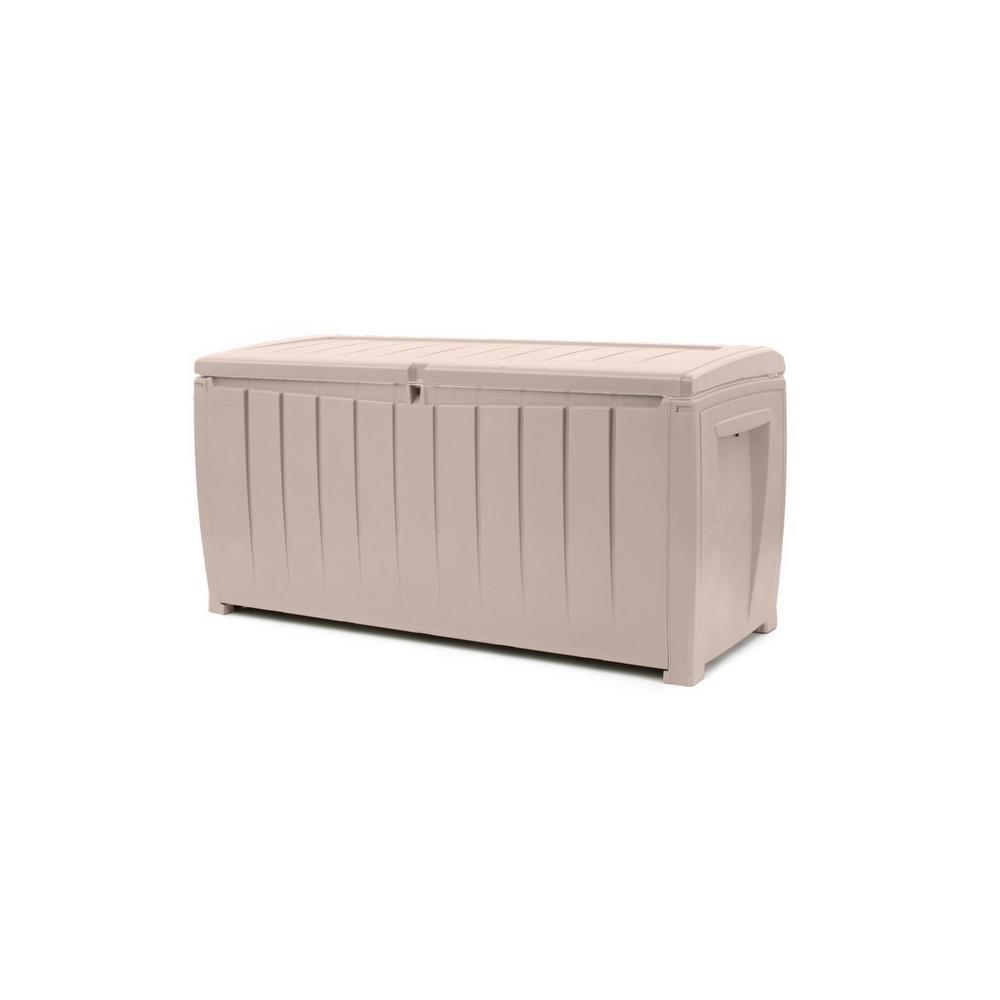 Novel 90 Gal. Resin Deck Box in Beige