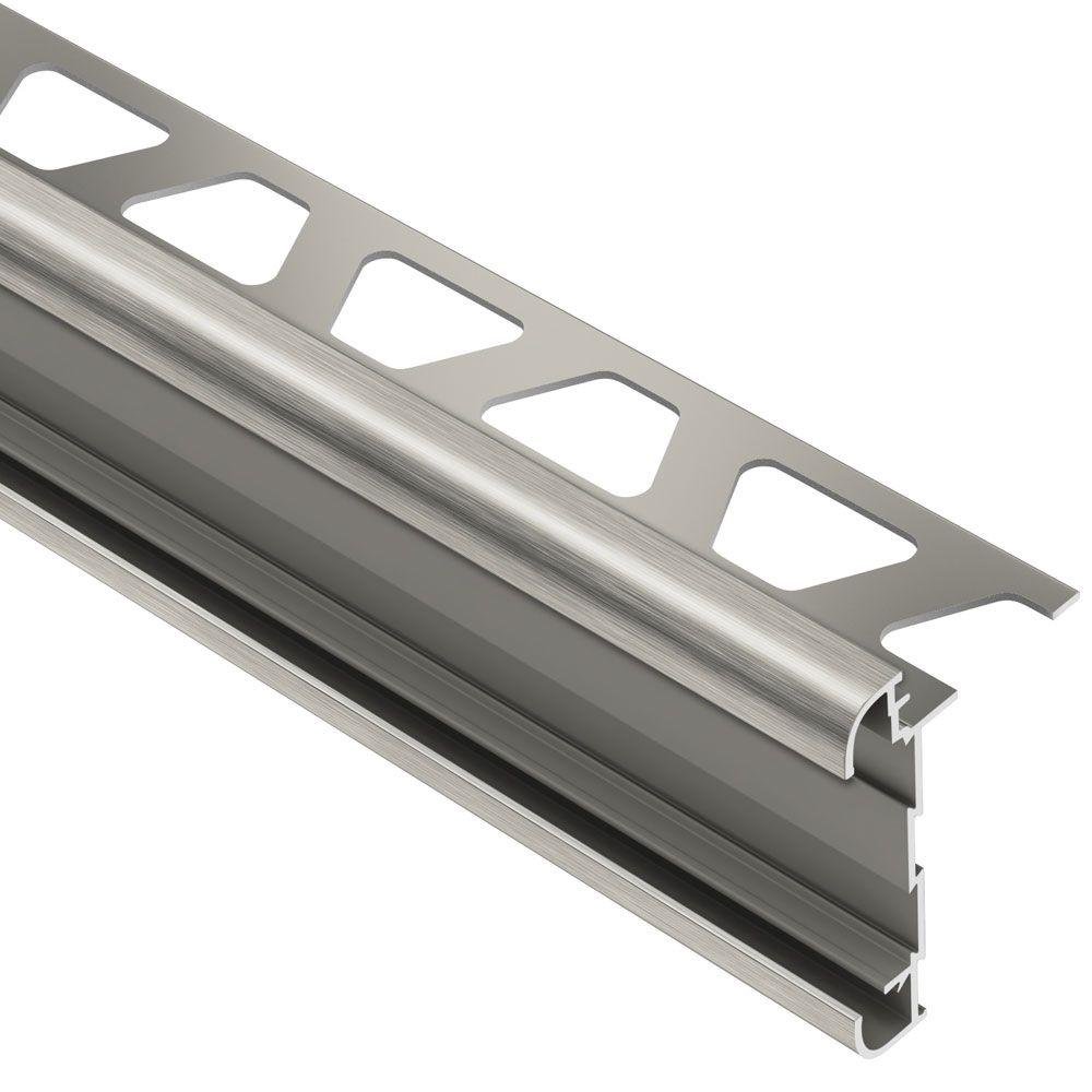 Schluter Rondec Ct Brushed Nickel Anodized Aluminum 1 2 In X 8 Ft