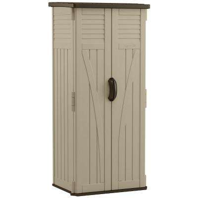 2 ft. 3/4 in. x 2 ft. 8 in. Resin Vertical Storage Shed