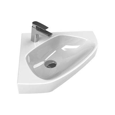 Arda Wall Mounted Bathroom Sink in White