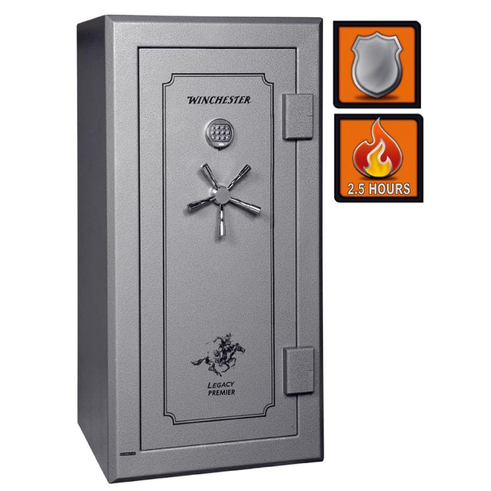 Winchester Safes Legacy Premier 26 28 Gun Granite Gloss Fire-Safe Electronic Lock