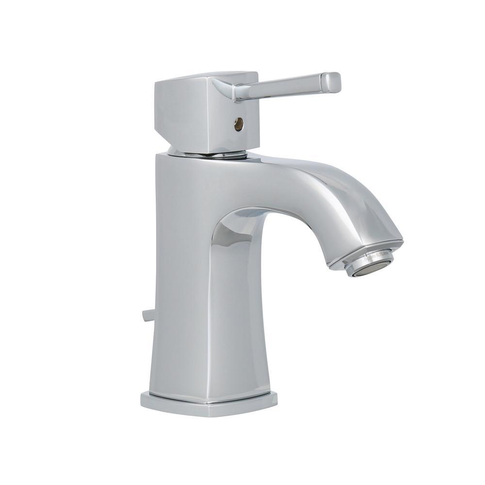Grandera Deck-Mount 4 in. Centerset Single-Handle Low Arc Bathroom Faucet in StarLight Chrome