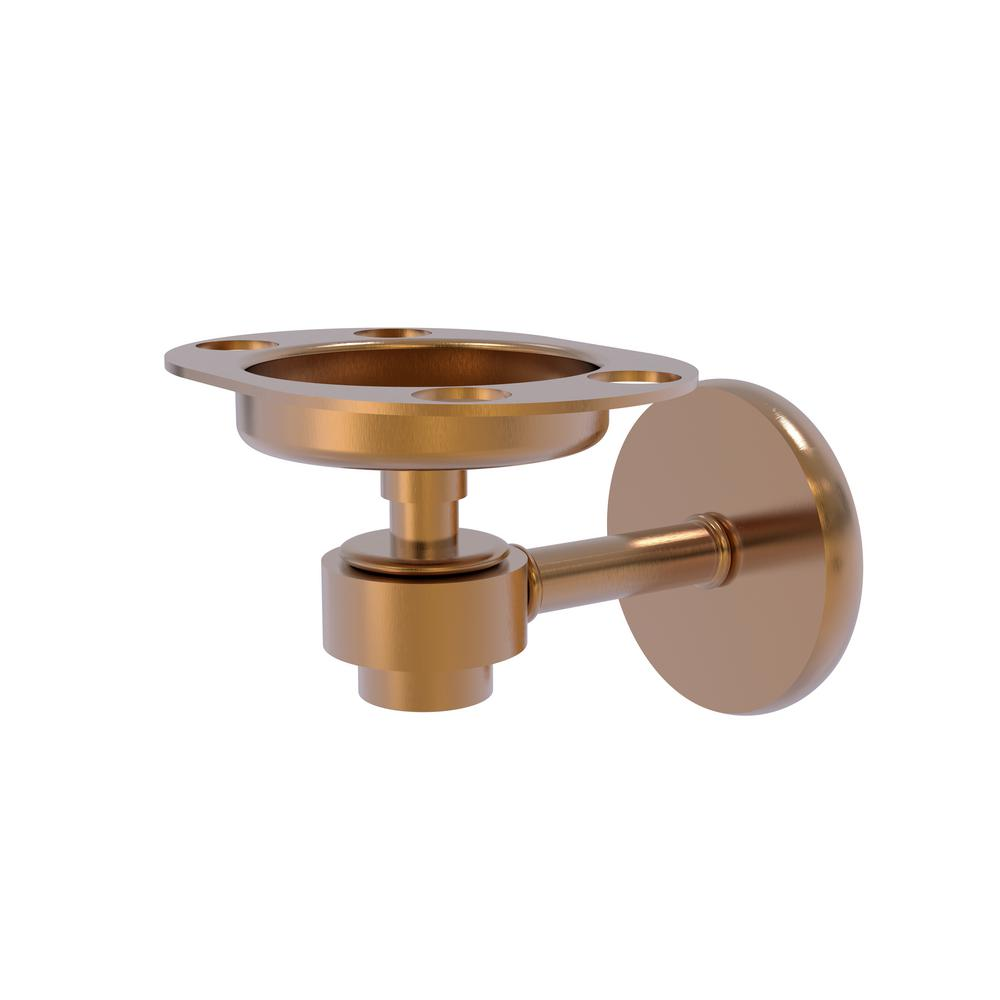 Satellite Orbit 1-Tumbler and Toothbrush Holder in Brushed Bronze