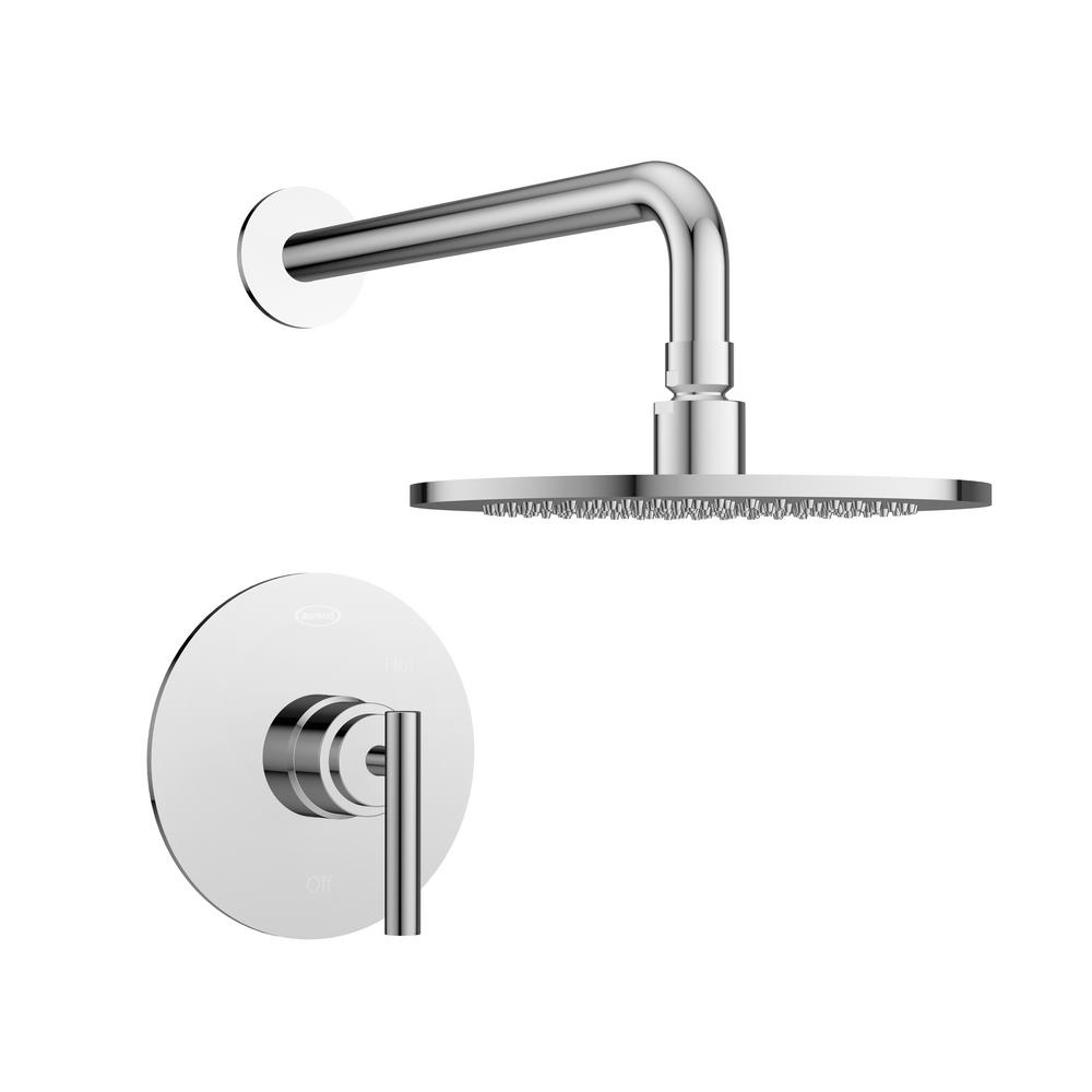 Salone Single-Handle 1-Spray Round Shower Faucet in Polished Chrome (Valve Included)