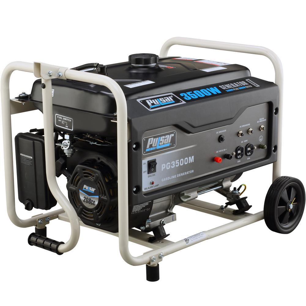 Pulsar 3,500/3,000-Watt Gasoline Powered Recoil Start Portable Generator with 208 cc Ducar Engine