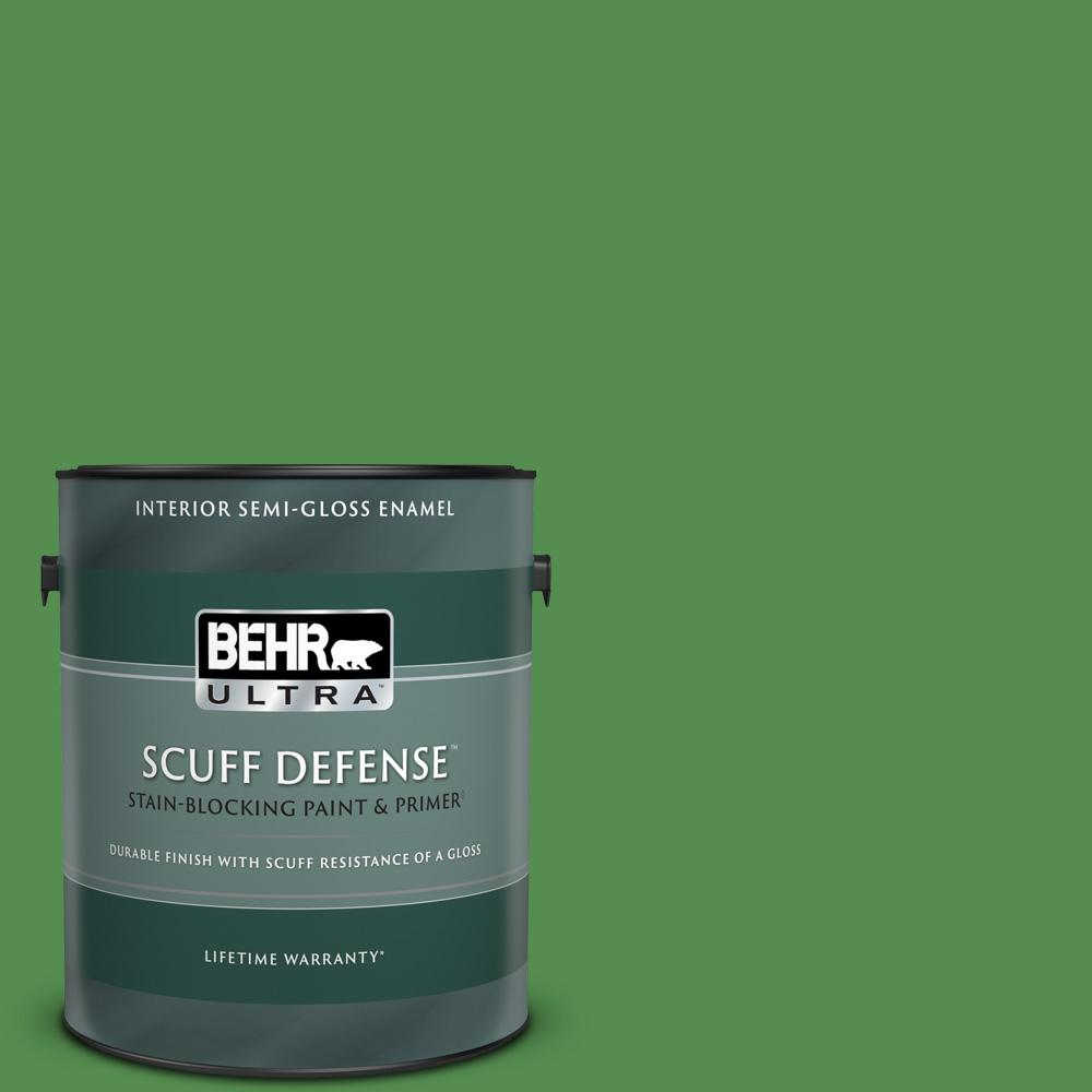 Behr Ultra 1 Gal M390 6 Belfast Extra Durable Semi Gloss Enamel Interior Paint And Primer In One 375301 The Home Depot