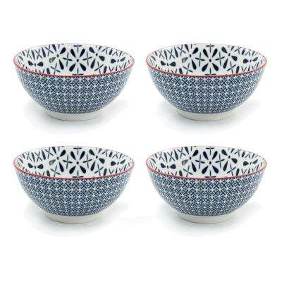 Frida Blue Soup Bowl (Set of 4)