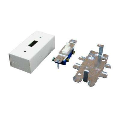 500 and 700 Series Metal Surface Raceway Switch Box, Ivory