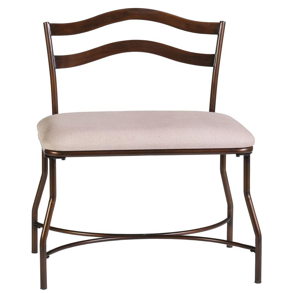 Windsor Beige Vanity Bench