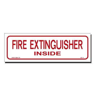 9 in. x 3 in. Decal Red on White Sticker Fire Extinguisher Inside