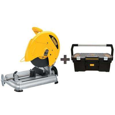 15 Amp 14 in. Abrasive Cut-Off Saw with Free 24 in. Tote with Organizer