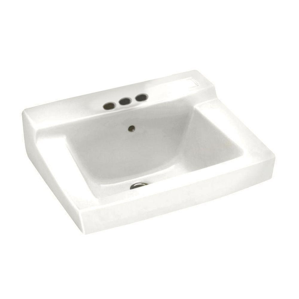 Declyn Wall-Mounted Bathroom Sink in White