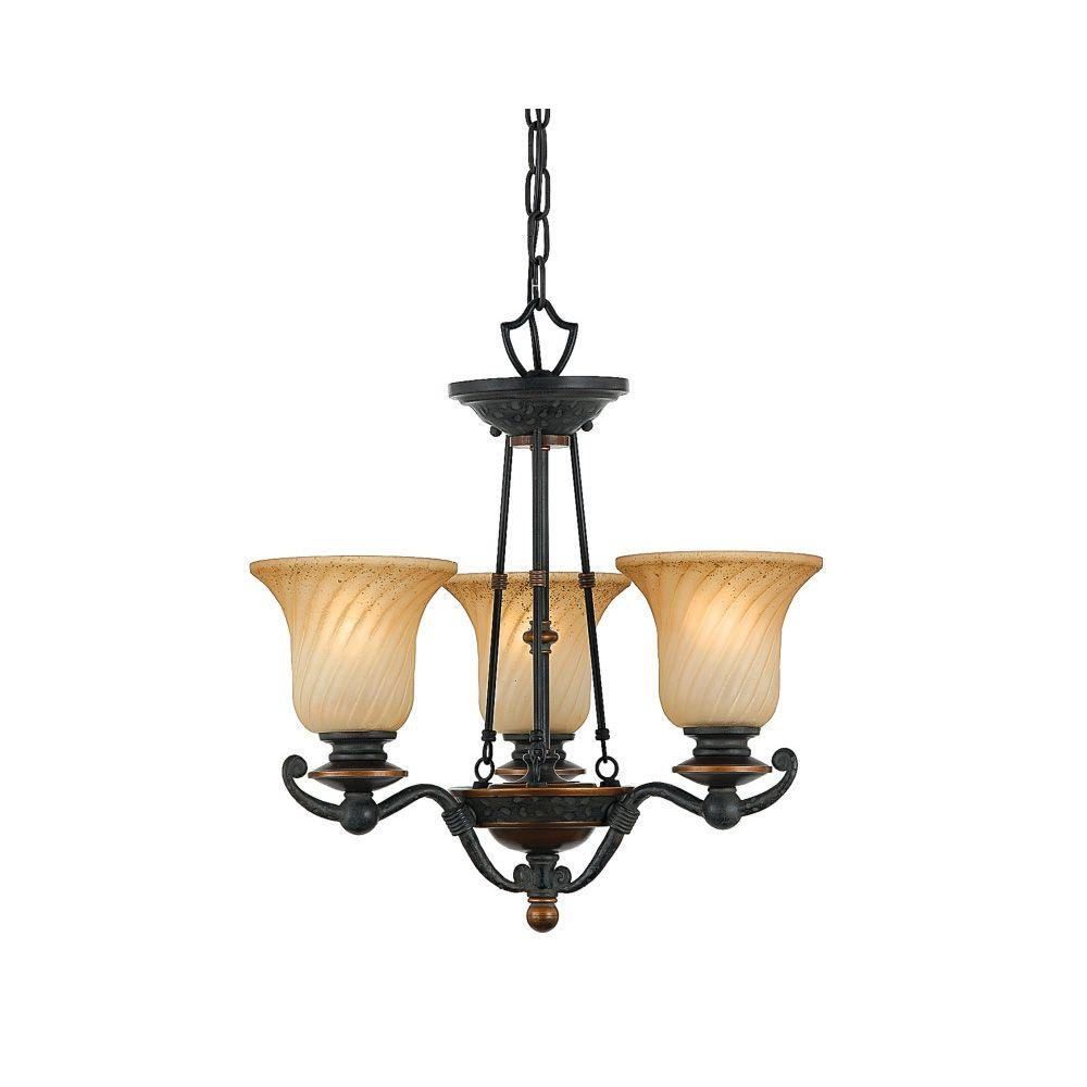 Filament Design Monroe 3-Light Ceiling Stonehedge Incandescent Chandelier-DISCONTINUED