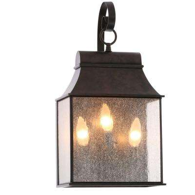 Revere Collection 3-Light Flemish Outdoor Wall-Mount Lantern