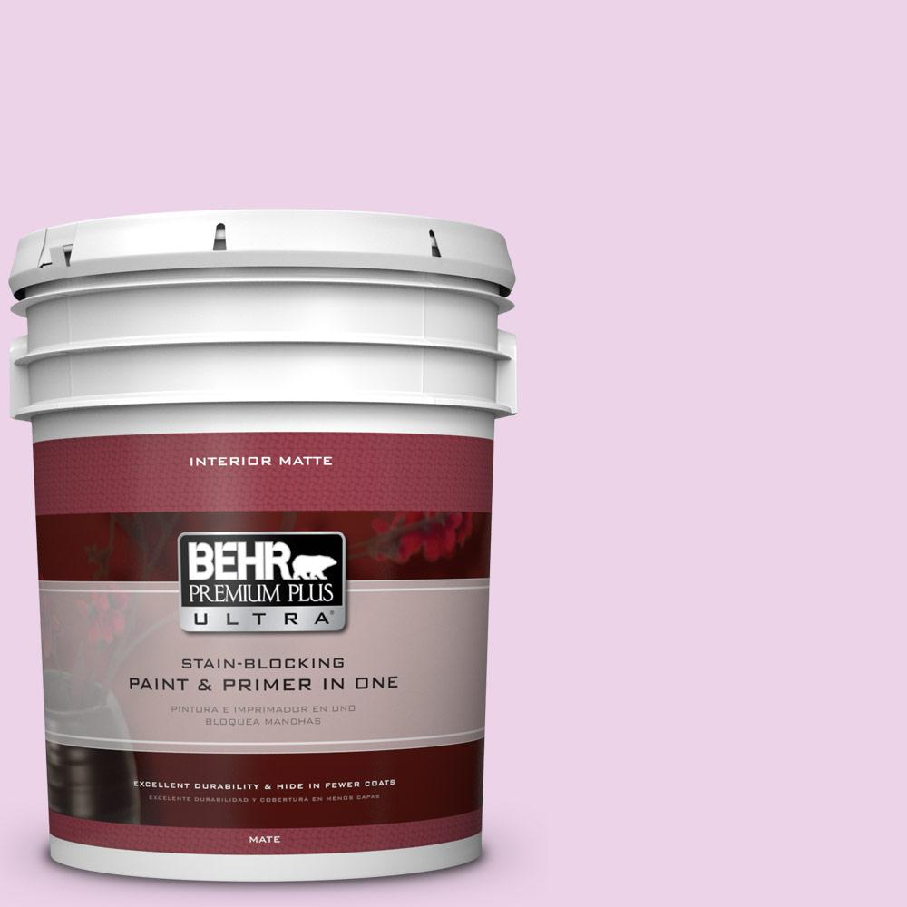 5 gal. #670A-2 Champagne Elegance Matte Interior Paint and Primer in