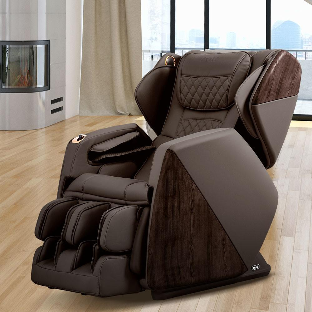 Pro Series Soho Brown Faux Leather Reclining Massage Chair with Bluetooth Speakers and 4D Massage was $5600.0 now $3699.0 (34.0% off)