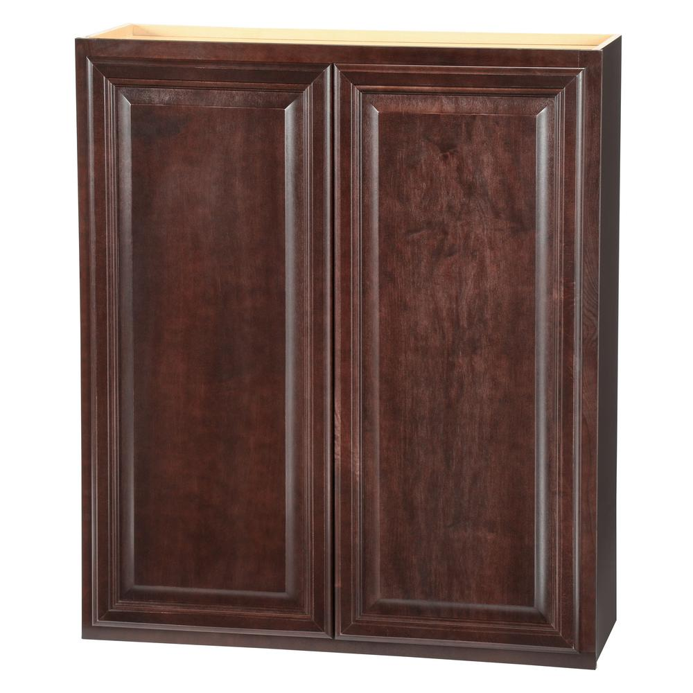 Hampton bay shaker assembled 36x42x12 in wall kitchen for Kitchen cabinets 36 x 42