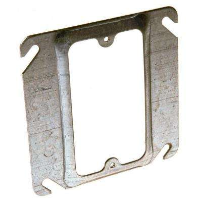 4 in. Square Single Device Mud Ring, Raised 1/2 in. (50-Pack)