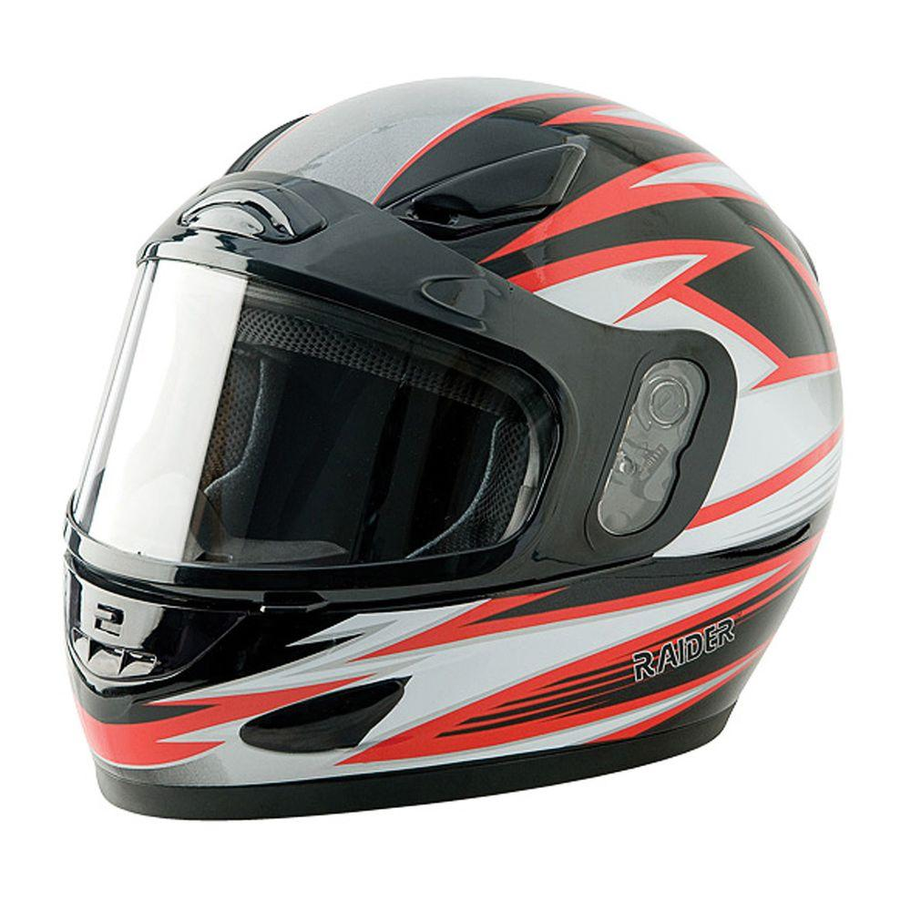 Raider 2X-Large Adult Red Full Face Snow Helmet