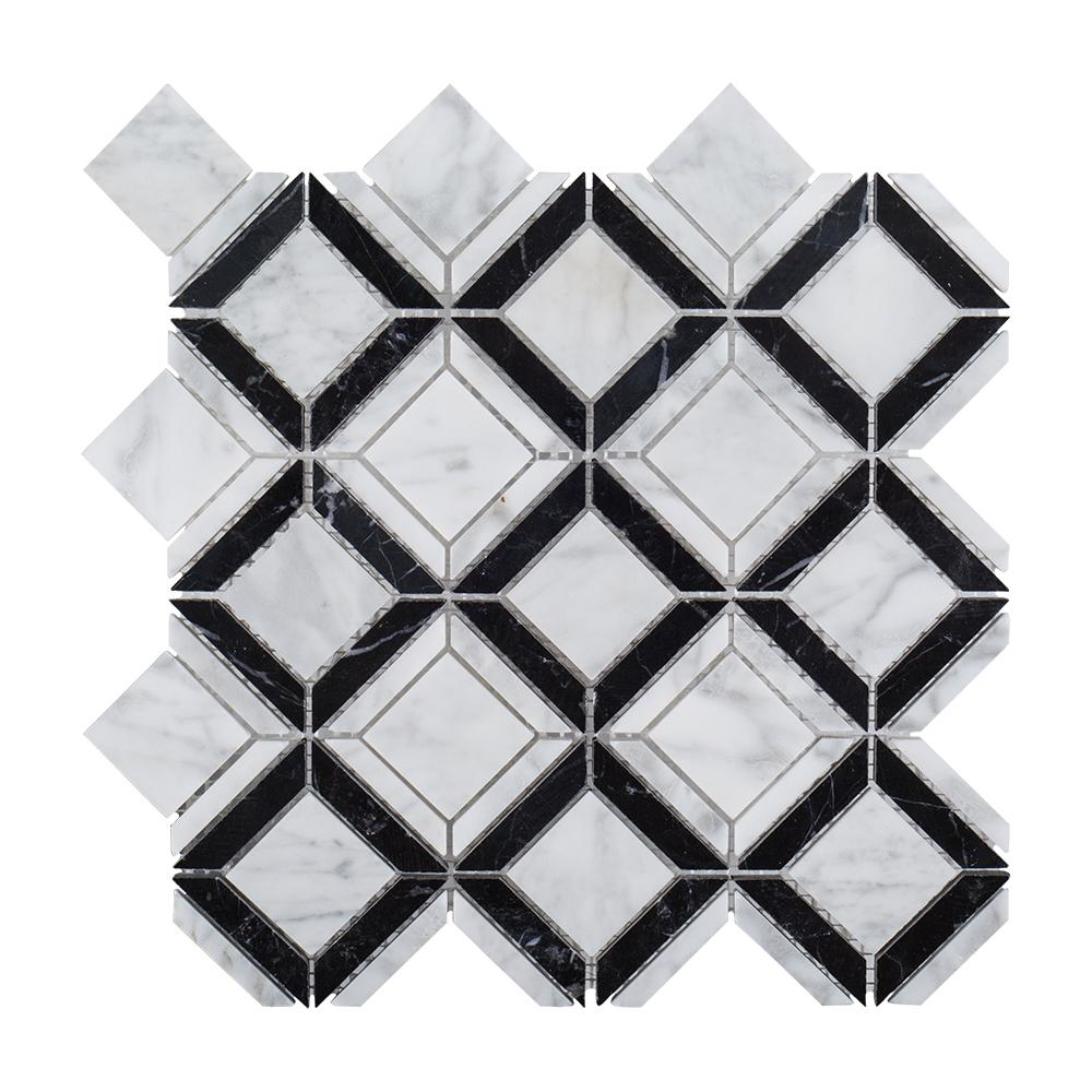 Jeffrey Court Butterfly Kisses 9.88 in. x 9.88 in. x 8 mm Marble ...