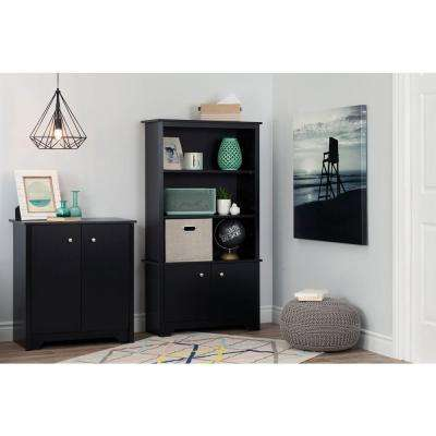 Vito Pure Black Storage Cabinet