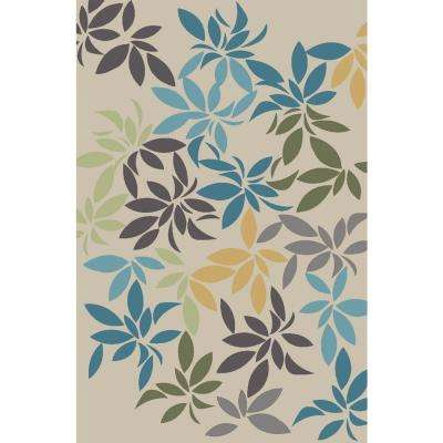 Adaline Collection Secret Garden Light 5 ft. x 6 ft. 6 in. Non-Skid Soft Anti-Bacterial Area Rug