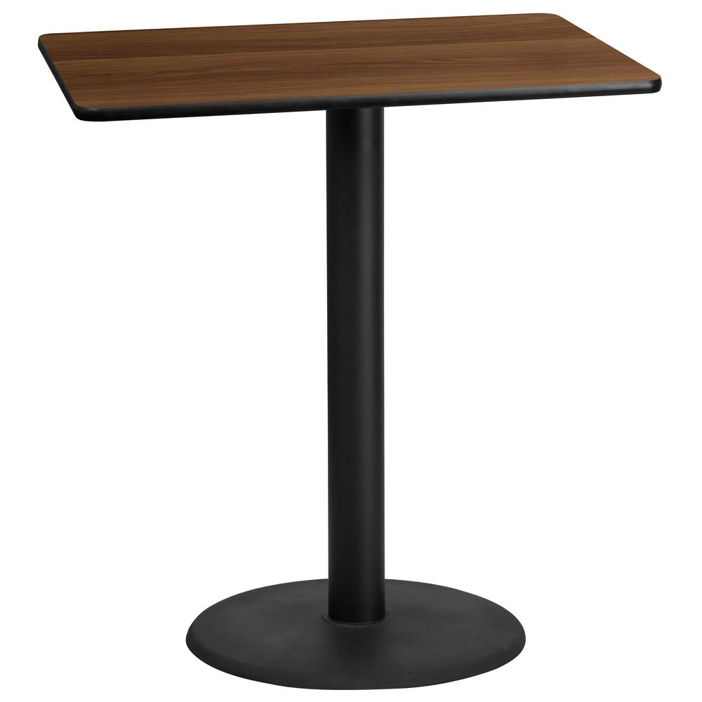 Flash Furniture In X In Rectangular Black And Walnut - 30 x 42 dining table