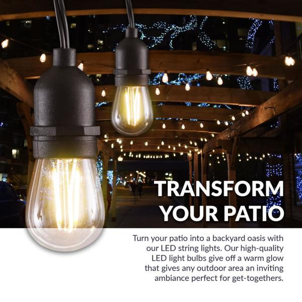 S14 Bulb Led String Light, String Lights Outdoor Patio