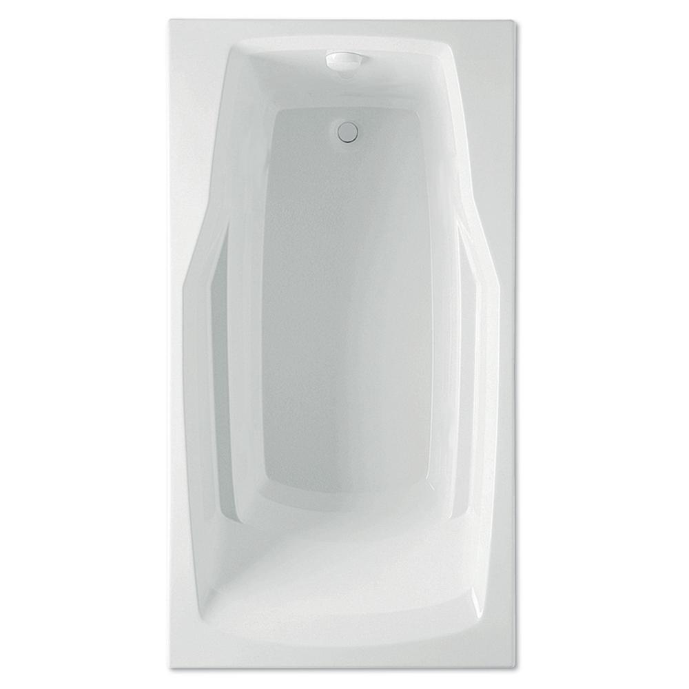 Derby 60 in. Acrylic Reversible Drain Rectangular Drop-In Soaking Bathtub in