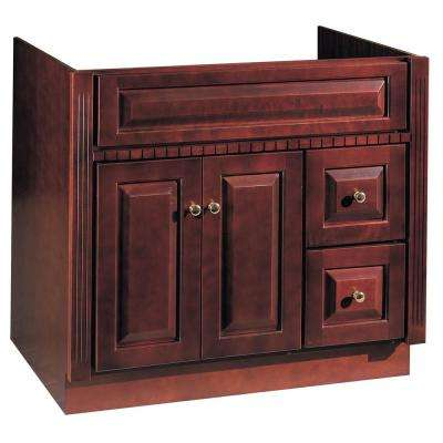 36 in. W x 21 in. D Vanity Cabinet Only in Cherry Ambrosia Finish