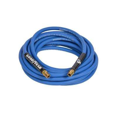 1/4 in. x 50 ft. 300 psi Coupled Male x Male NPT Air Hose in Blue