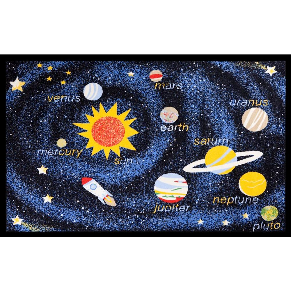 Concord Global Trading Fun Time Outer Space Navy 3 ft. 3 in. x 4 ft. 7 in. Area Rug