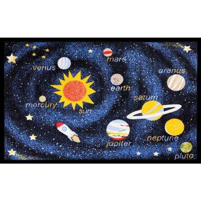 Fun Time Outer Space Navy 3 ft. 3 in. x 4 ft. 7 in. Area Rug