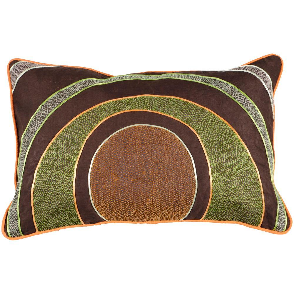 Artistic Weavers CirclesE 13 in. x 20 in. Decorative Down Pillow-DISCONTINUED