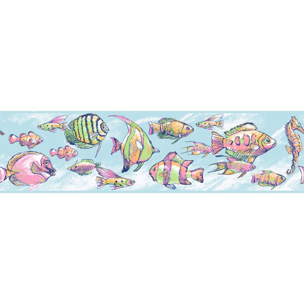 York Wallcoverings 6.75 In. Under The Sea Border-DISCONTINUED